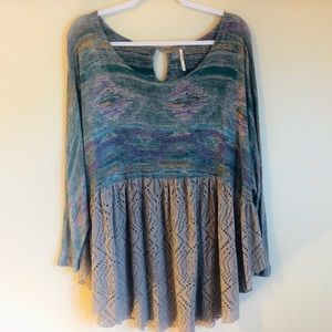Free People | Flowy Aztec Top